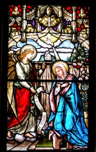 ANNUNCIATION WINDOW IN THE SACRISTY