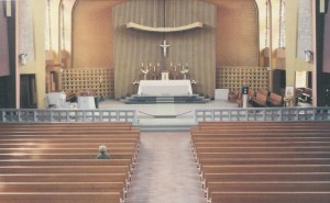 Cathedral Sanctuary with Altar Rail