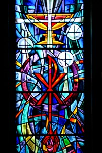 EUCHARIST WINDOW IN OUR LADY'S CHAPEL