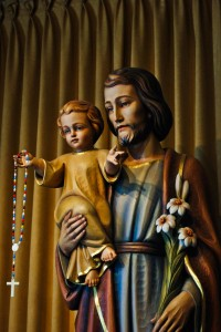 DETAIL OF ST_ JOSEPH STATUE